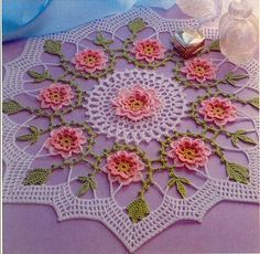 Crochê da Mag: toalhinha de mesa em crochê