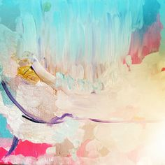 pretty blue abstract painting