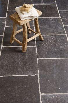 Belgisch hardsteen op de vloer