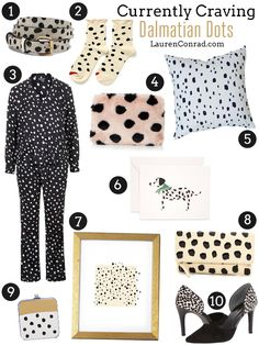 Currently Craving: Dalmatian Dots {loving everything polka dotted right now!}