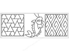 StenSource Quilting Stencil Mini Sashiko Designs 4