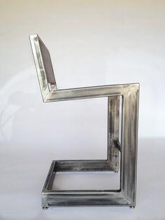 walnut bar stool / welded frame / walnut seat / by TimberAndAlloy