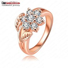 Wholesale Hot Selling Fashion 18k Rose Gold Plate Pave Austrian Crystals Flower Engagement Rings Wedding Jewelry Anillos De Boda Ric0012 Black Diamonds Tanzanite Rings From Dangdangqiu, $20.75| Dhgate.Com