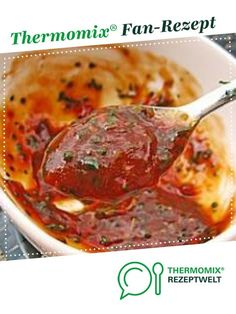 Scharfe Honig Soße Hot honey sauce from dankabananka. A Thermomix ® recipe from the Sauces / Dips / Spreads category www.de, the Thermomix® Community. Sauce Au Miel, Thermomix Desserts, Winter Drinks, Super Healthy Recipes, Hot Pot, Cauliflower Recipes, Chutney, Finger Foods, Pesto