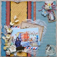 Love this layout idea with Place in Time by @Susan Lui! She used some of the patterns from the collection to make a home run! #graphic45 #layouts