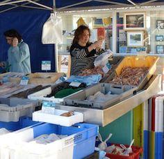 Marché de #Locquirec, le mercredi matin, sur le port #Finistere, #Bretagne, #Brittany #markets
