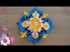 Канзаши. Маленький бантик / Kanzashi. A small bow for hair. - YouTube