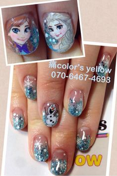 Character nail art, french