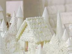 This is a beautiful alternative to a gingerbread house! You could even use sugar cookies with the sugar cubes.