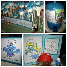 Smurf party...I want one!