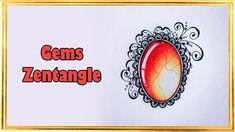DIY ● Рисую Драгоценные камни ● Зентангл ● Gems Zentangle