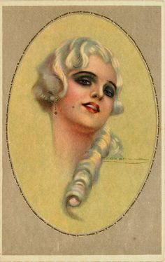 T Corbella Artist Signed Glamour Oval Beautiful Woman 1 Vintage Postcard | eBay