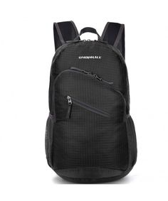 13e48f7552 Packable Handy Lightweight Travel Backpack Water Resistant Daypack 0713 -  Black - C111M10A3ZP