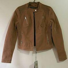 New Beautiful Woman  Camel Fur jacket.Never worn. Beautiful jacket  100% polyester  faux fur lining Color :camel Cavalini Jackets & Coats