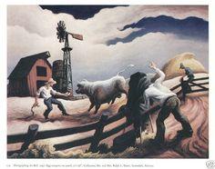 Thomas Hart Benton Painting