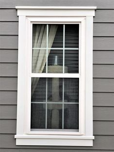 Cottage Exterior, Modern Farmhouse Exterior, Exterior Trim, Exterior Windows, Outdoor Window Trim, House Window Design, Home Exterior Makeover, Exterior Paint Colors For House, House Siding