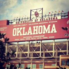 No place I would rather be on a Saturday in October than Norman Oklahoma watching the Sooners play.