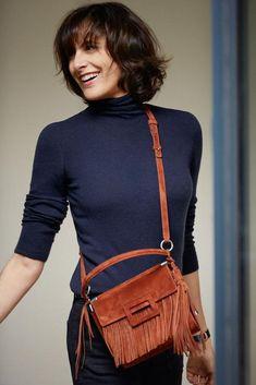 Ines de la Fressange wonderful bags for Roger Vivier  The Demoiselle de la Frange bag by Roger Vivier