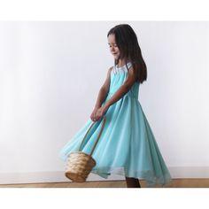 Sweetheart Turquoise flower girl dress