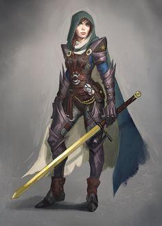 Female knight. Fantasy