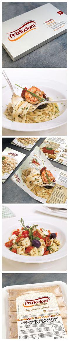 Petriccioni, logo, product catalog, food photography and label by www.alexguerra.com.br!!!!!!!! #alexguerradesigncomunicacao #petriccioniindustriaalimentos #massas #foodphotography #foodservice #design #productcatalog #label