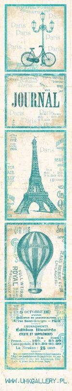 Paris Paris - pasek turkusowy :: UHK Gallery