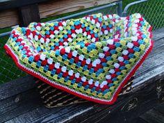 Granny Square Baby Blanket. $32.00, via Etsy.