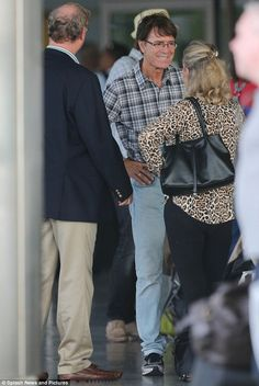 Sir Cliff Richard at the airport in Barbados. He owns a home on the island and is a frequent visitor.