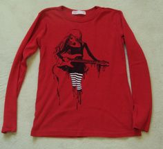 FOX COUTURE KIDS Red Long Sleeve Top Shirt size 12-14 #Foxkids #Everyday