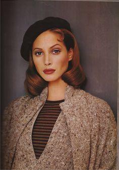 Perfection! Christy Turlington, wearing Geoffrey Beene, shot by Patrick Demarchelier for Harper's Bazaar September 1992.