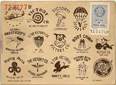 THE VICTORY! COMPANY on Behance Black Tree, Typography, Lettering, American Soldiers, Graphic Design Branding, Vintage Prints, Timeless Design, Art Direction, Victorious