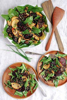 wild rice salad with dandelion greens // brooklyn supper