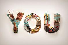 Vodafone - You on Typography Served Text Design, 3d Design, Logo Design, Graphic Design, Typography Served, Typography Poster Design, Digital Illustration, Bracelet Watch, Behance