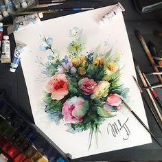 Watercolorist: @artmalygina  #waterblog #акварель #aquarelle #painting #drawing #art #artist #artwork #painting #illustration #watercolor #aquarela