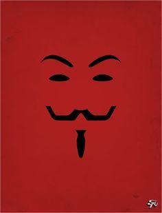 V de Vendetta cartaz minimalista