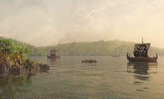 Viikingit tekivät pitkiä matkoja vieraillen niin Pohjois-Amerikassa kuin Aasiassakin. Viikingit olivat tuttu näky myös Suomen rannikolla. Asatru, Viking Age, Historian, Monet, Finland, Vikings, Boats, Ships, Pictures