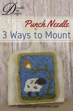 Daisy Primitive Punch Needle Pattern Skinny Series