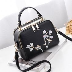Item Type:Crossbody Bag Material:PU Leather Lining:Polyester lining Pattern:Embroidery Color:As The Picture Inner Pocket:Main Pocket,Zippet Pocket,Phone Pocket,Card Pocket Closure:Zipper Package Include: 1 * Bag Black Handbags, Purses And Handbags, Cute Mini Backpacks, Tote Backpack, Messenger Bag, Luxury Purses, Mini Crossbody Bag, Girls Bags, Cute Bags