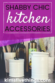 Stylish Shabby Chic Kitchen Accessories for French Farmhouse Style. Shabby Chic Kitchen Ideas on a Budget. Modern Shabby Chic, Vintage Shabby Chic, Shabby Chic Decor, Kitchen Interior, Kitchen Decor, Kitchen Ideas, Kitchen Design, Shabby Chic Kitchen Accessories, Farmhouse Style Kitchen