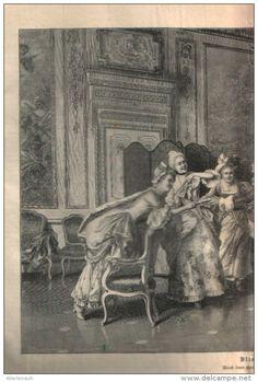 """Blinde Kuh - Druck, entnommen  aus """"die Gartenlaube"""", 1897"""