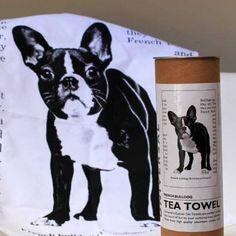 French Bulldog Tea Towel