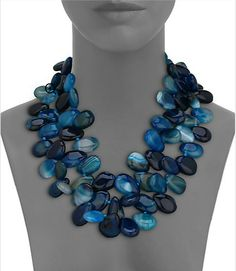 Nest Teal Agate Statement Necklace - Available at Saks