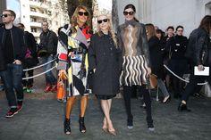 Franca Sozzani Photos - Anna Dello Russo, Franca Sozzani and Giovanna Battaglia attend the Celine show as part of the Paris Fashion Week Womenswear Fall/Winter 2014-2015 on March 2, 2014 in Paris, France. - Celine : Outside Arrivals  - Paris Fashion Week Womenswear Fall/Winter 2014-2015
