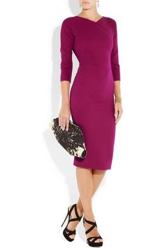 Victoria Beckham | Silk-blend double-crepe dress | NET-A-PORTER.COM