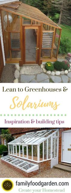 DIY Lean to Greenhouse: Kits on How to Build a Solarium Yourself! Solariums & lean to greenhouses Greenhouse Plans, Greenhouse Gardening, Container Gardening, Greenhouse Wedding, Outdoor Greenhouse, Portable Greenhouse, Cheap Greenhouse, Growing In A Greenhouse, Lean To Greenhouse Kits