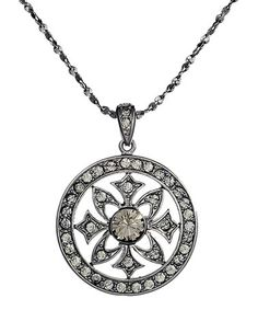 Take a look at this Black Diamond SWAROVSKI ELEMENTS Rebellion Pendant Necklace by Annaleece on #zulily today!