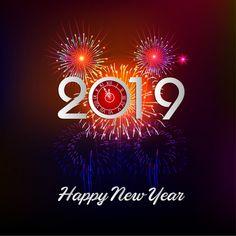 Fondo Ano Nuevo Lettering Colorido Vector Gratuito Feliz Ano
