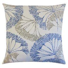 The Pillow Collection Floral Decorative Pillow - Zen
