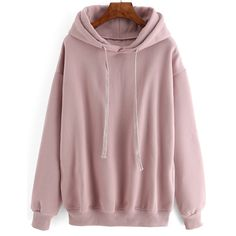 Hooded Drawstring Loose Pink Sweatshirt ($21) ❤ liked on Polyvore featuring tops, hoodies, sweatshirts, sweaters, pink, hooded pullover sweatshirt, pullover hoodie sweatshirt, hooded sweatshirt, red sweatshirt and red hoodies