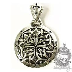 Men's Silver Pendant Knight Templar Cross Shield